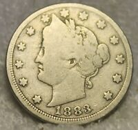1883 CENTS LIBERTY HEAD NICKEL