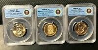 2008 ANACS J.Q. ADAMS 3 COIN SET S,P,D PR70 & MINT STATE 67 LIMITED EDITION 18,000