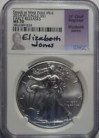 2014W AMERICAN SILVER EAGLE NGC MS70 ELIZABETH JONES EARLY RELEASE