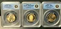 2008 ANACS JAMES MONROE 3 COIN SET S,P,D PR70 & MINT STATE 67 LIMITED EDITION 18,000