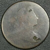 1800 DRAPED BUST COPPER LARGE CENT - DAMAGE