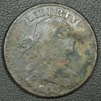 1803 DRAPED BUST COPPER LARGE CENT - BADLY BENT