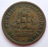 LC 14 1830 LOWER CANADA: FOR PUBLIC ACCOMODATION HALF PENNY