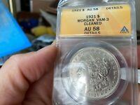 1921 MORGAN ANACS GRADED AU 58 DETAILS CLEANED VAM 3 NO RESE