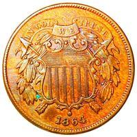 1864 TWO CENT PIECE SHARP FEATURES VERY NICE 2C COPPER RARE
