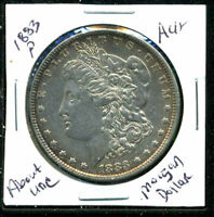 1883 P AU MORGAN DOLLAR 90 SILVER COIN ABOUT UNCIRCULATED COMBINE SHIP$1 C1521