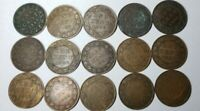VINTAGE LOT OF 12 CANADIAN LARGE CENT PENNY 9 DIFFERENT