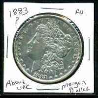1883 P AU MORGAN DOLLAR 90 SILVER COIN ABOUT UNCIRCULATED COMBINE SHIP$1 C1726