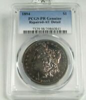 1894-P PROOF MORGAN SILVER DOLLAR CERTIFIED PCGS GENUINE REPAIRED AU DETAILS