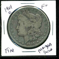 1901 O F MORGAN DOLLAR  FINE 90 SILVER COIN U.S COMBINE SHIPPING $1 WC1479