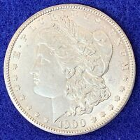 1900-P MORGAN SILVER DOLLAR CH BU W/  PERIPHERAL TONING BOTH SIDES