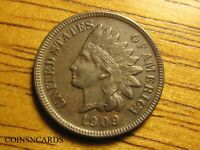 1909 S INDIAN HEAD CENT TONED KEY UNCIRCULATED DETAILS W/ AL