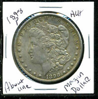 1898 P AU MORGAN DOLLAR 90 SILVER COIN ABOUT UNCIRCULATED COMBINE SHIP$1 C1546