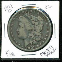 1901 O F MORGAN DOLLAR  FINE 90SILVER COIN U.S  OLD $1 AUCTION WC1557