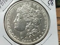 1896 O MORGAN SILVER DOLLAR  LUSTER  IN THIS CONDITION AU