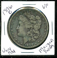 1896 O VF MORGAN DOLLAR 90 SILVER  FINE U.S.A COMBINE SHIP $1 COIN WC1549