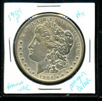 1904 P AU MORGAN DOLLAR 90 SILVER COIN ABOUT UNCIRCULATED COMBINE SHIP$1 C3024