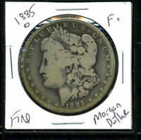 1885 O F MORGAN DOLLAR 90 SILVER  FINE U.S COMBINE SHIPPING $1 COIN WC3062