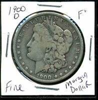 1900 O F MORGAN DOLLAR  FINE 90 SILVER COIN U.S COMBINE SHIPPING $1 WC1023