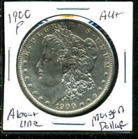 1900 P AU MORGAN DOLLAR 90 SILVER COIN ABOUT UNCIRCULATED COMBINE SHIP$1 C1607