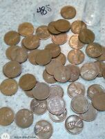 1948 S  LINCOLN WHEAT CENT  ROLL  50 PENNIES  GOOD - BETTER  WITH STORAGE TUBE