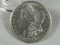 1886-S MORGAN SILVER DOLLAR AU-UNC DETAILS LIGHTLY CLEANED