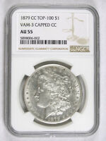 1879 CC $1.00 MORGAN DOLLAR CAPPED NGC AU-55 8908