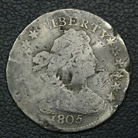 1805 DRAPED BUST SILVER DIME - DAMAGED