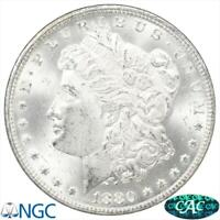 1880/79-CC MORGAN SILVER DOLLAR NGC MINT STATE 63 VAM-4 REV OF 1878
