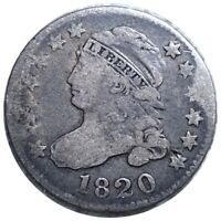 1820 CAPPED BUST SILVER DIME HIGH END 10C MUST HAVE COLLECTIBLE COIN NO RES