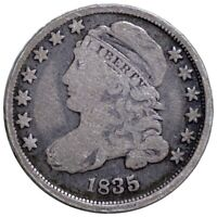 1835 CAPPED BUST SILVER DIME HIGH END 10C MUST HAVE PHIL. MINT COLLECTIBLE NR