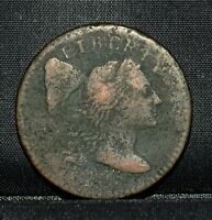 1795 LARGE CENT  VF  FINE  1C FLOWING HAIR DETAILS  NOW K26 TRUSTED