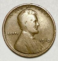 1910 LINCOLN - WHEAT EARS REVERSE 1 CENT CIRCULATED COIN  2695