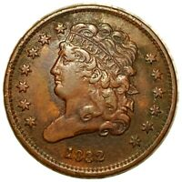 1832 CLASSIC HEAD HALF CENT HARD TO FIND COPPER COLLECTIBLE