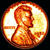 1952 D   LINCOLN WHEAT CENT   CIRC, AWESOME COLORFUL TONING 1.238