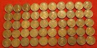 1910-1919 ALL P MINT 5 EACH YEAR LINCOLN WHEAT CENT PENNY 50 COIN ROLL R1
