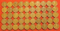 1910-1919 ALL P MINT 5 EACH YEAR LINCOLN WHEAT CENT PENNY 50 COIN ROLL R2