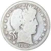 1895 O BARBER SILVER HALF DOLLAR VERY NICE FEATURES 50C NEW