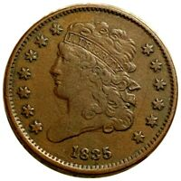 1835 CLASSIC HEAD HALF CENT SHARP DETAIL COPPER MUST HAVE CENT