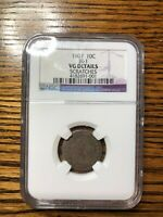 1807 DRAPED BUST DIME 10C GRADED VG DETAILS NGC