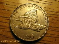 1858 FLYING EAGLE CENT LARGE LETTERS DOUBLED DIE W/ UNCIRCUL