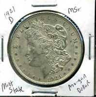 1921 D BU MORGAN DOLLAR UNCIRCULATED SILVER MINT STATE COMBINE SHIP$1 COINWC936