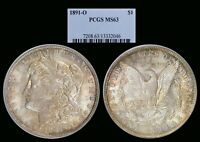 1891-O MORGAN DOLLAR GRADED MINT STATE 63 BY PCGS BETTER DATE