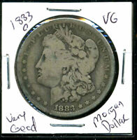 1883 O VG MORGAN DOLLAR 90 SILVER  GOOD U.S.A COMBINE SHIP $1 COIN WCC1015
