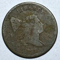 1797 LIBERTY CAP HALF CENT  VG  GOOD DETAILS  1/2C POLE 1 ABOVE 1TRUSTED