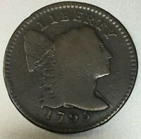 1795 FLOWING HAIR LARGE CENT,  GOOD, S-75 R-3,