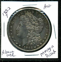 1882 P AU MORGAN DOLLAR 90 SILVER COIN ABOUT UNCIRCULATED COMBINE SHIP$1 C1638