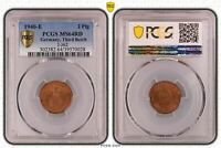 2 PFENNIG 1940 E FRESH MINT CONDITION PCGS MINT STATE 64RD 53920