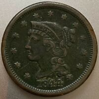 1844 AMERICAN LIBERTY MATRON HEAD LARGE CENT US COPPER PENNY