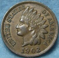 1902 INDIAN HEAD CENT  SNOW 4 DIE GOUGE BY EYE VARIETY